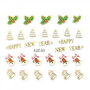 Sticker 3D Unghii LUXORISE XJZ-53, Christmas Collection