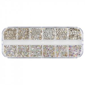 Strasuri Unghii LUXORISE, Crystal Spark, 12 modele