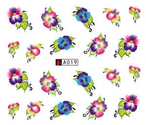 Tatuaj unghii A019 flori