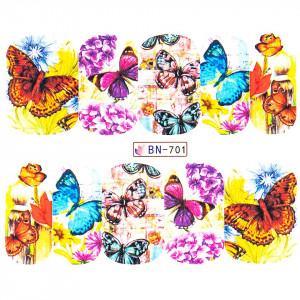 Tatuaj unghii LUXORISE, Butterfly BN-701