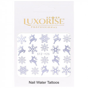 Tatuaj unghii LUXORISE, Winter STZ-Y25 argintiu