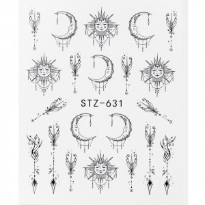 Tatuaj unghii STZ-631 abstract