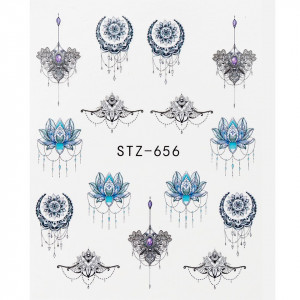 Tatuaj unghii STZ-656 abstract