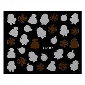 Abtibild unghii XJZ-117 Seara de Sarbatori – Ciocolata de Craciun