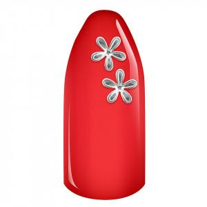 Decoratiune Unghii 3D - Silver Flowers