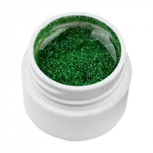 Gel UV Color cu Sclipici ENS PRO #028 - Green Metropolis
