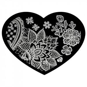 Matrita Metalica Stampila Unghii Hearts #27