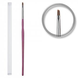 Pensula unghii aplicare gel UV nr.1 cu etui tubular - Lilac