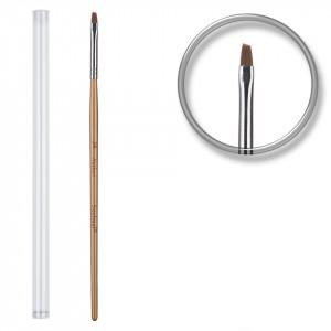 Pensula unghii aplicare gel UV nr.3 cu etui tubular - Gold Digger