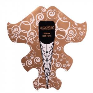 Sabloane Constructie Unghii LUXORISE Soft Stiletto, 50 buc