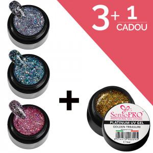 Set Unghii Gel Platinum SensoPRO 3+1 Cadou