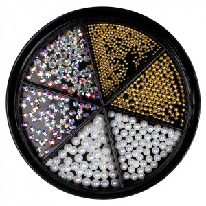 Strasuri Unghii LUXORISE, Royal Gold & Silver - 6 modele