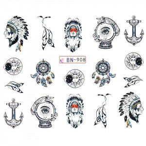 Tatuaj unghii LUXORISE, Dream Catcher BN-908