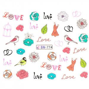 Tatuaj unghii LUXORISE, Love BN-774