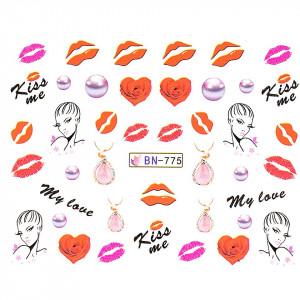 Tatuaj unghii LUXORISE, Love BN-775