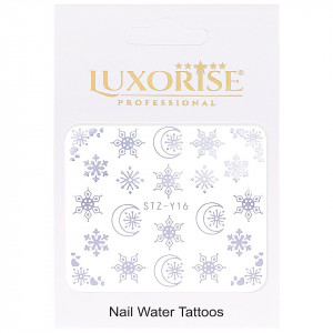 Tatuaj unghii LUXORISE, Winter STZ-Y16 argintiu