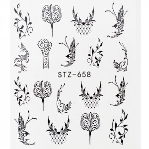 Tatuaj unghii STZ-658 abstract
