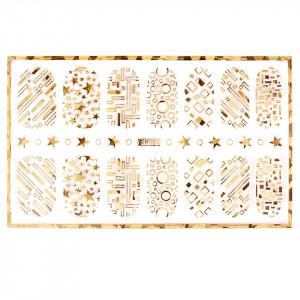 Abtibild unghii cu modele aurii H003