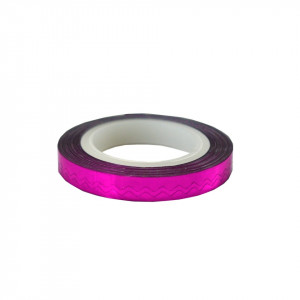 Banda Decor Unghii - Hot Pink Waves Line