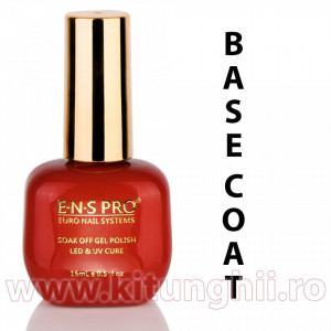Base Coat Oja Semipermanenta ENS PRO Germania 15ml - Gel de Baza pentru Oja Semipermanenta