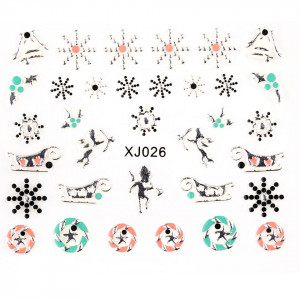 Folie Sticker 3D unghii, model XJ026