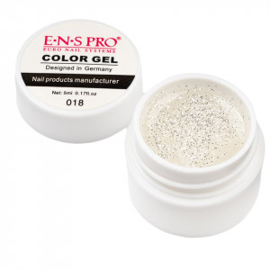 Gel UV Color cu Sclipici ENS PRO #018 - White Wind