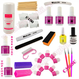 Kit Consumabile Oja Semipermanenta Profesionala 15ml Gelpolish Germania #07 + CADOU