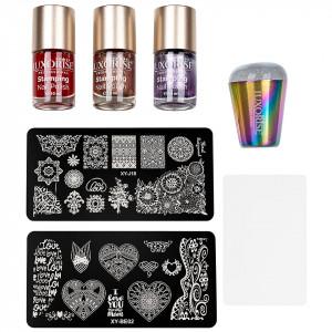 Kit Nail Art cu Stampila, Oja LUXORISE, Matrita - Iconic Nails