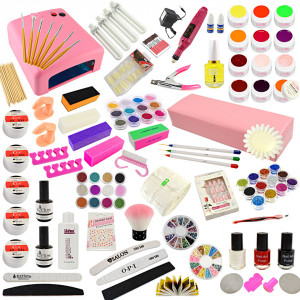 Kit Unghii False cu Gel UV - Promotie #37 + CADOU Set 3 Pensule Nail-Art