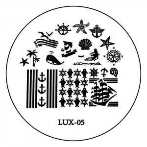 Matrita Metalica Stampila Unghii LUX-05 - Nature