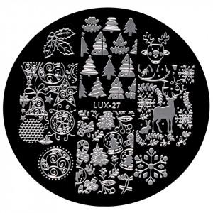 Matrita Metalica Stampila Unghii LUX-27 - Winter's Tale