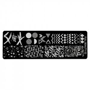 Matrita Metalica Stampila Unghii LUXORISE, Geometric Art & Love