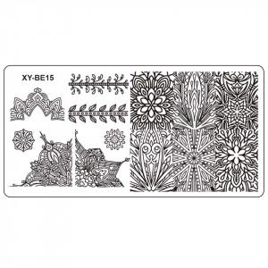 Matrita Metalica Stampila Unghii XY-BE15 - Mandala