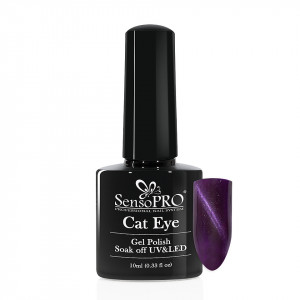 Oja Semipermanenta Cat Eye SensoPRO 10ml - #049 Purple Plum
