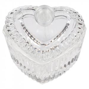 Paharel din sticla cu capac Heart Glass