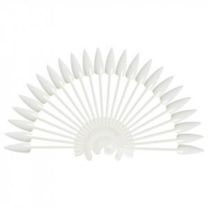 Paletar Unghii Stiletto 24 pozitii pentru exersare si expunere, alb, inel