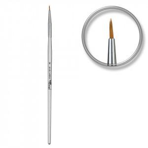 Pensula nail art pentru linii fine nr. 0 SilverNail