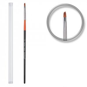 Pensula unghii aplicare gel UV nr.1 cu etui tubular - Orange Brush