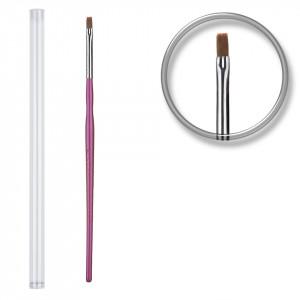 Pensula unghii aplicare gel UV nr.3 cu etui tubular - Misty Purple