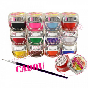 Set 12 geluri UV Color Lily Angel, set gel UV Color + CADOU