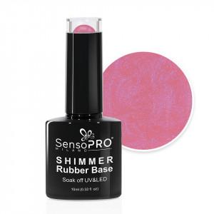 Shimmer Rubber Base SensoPRO Milano - #14 Musical Rose Shimmer Blue, 10ml