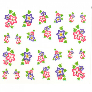 Tatuaj unghii A020 flori