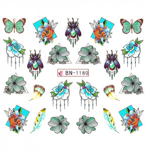 Tatuaj unghii LUXORISE, Butterfly BN-1180