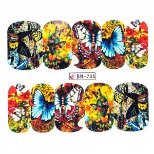 Tatuaj unghii LUXORISE, Butterfly BN-705