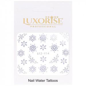 Tatuaj unghii LUXORISE, Winter STZ-Y14 argintiu