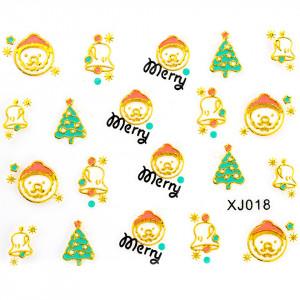 Folie Sticker 3D unghii, model xj018