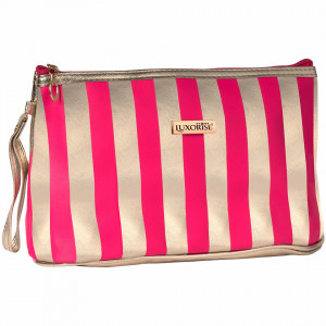 Geanta Manichiura tip Portfard Travel LUXORISE Elite, Pink & Gold