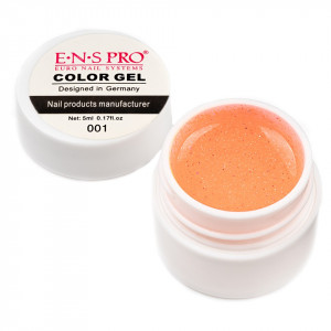 Gel UV Color cu Sclipici ENS PRO #001 - Magic Yolk