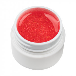 Gel UV Color cu Sclipici ENS PRO #030 - Red Gift