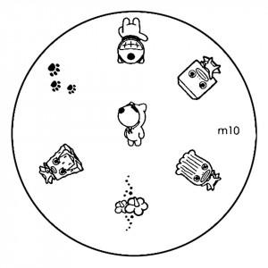 Matrita Metalica Stampila Unghii M10 - Cartoon